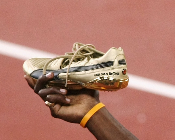 Usain Bolt's world record breaking spikes from Beijing